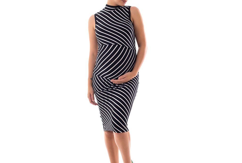 Vestido Amamentação Carmela – Preto Listras