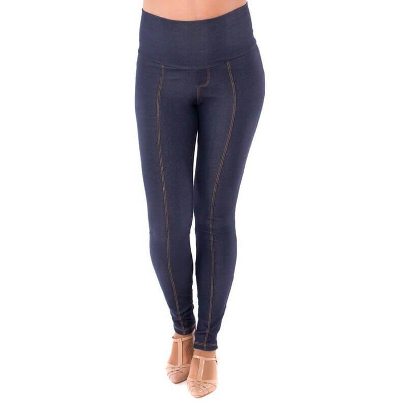 Legging Gestante Jeans de Moletom – Índigo
