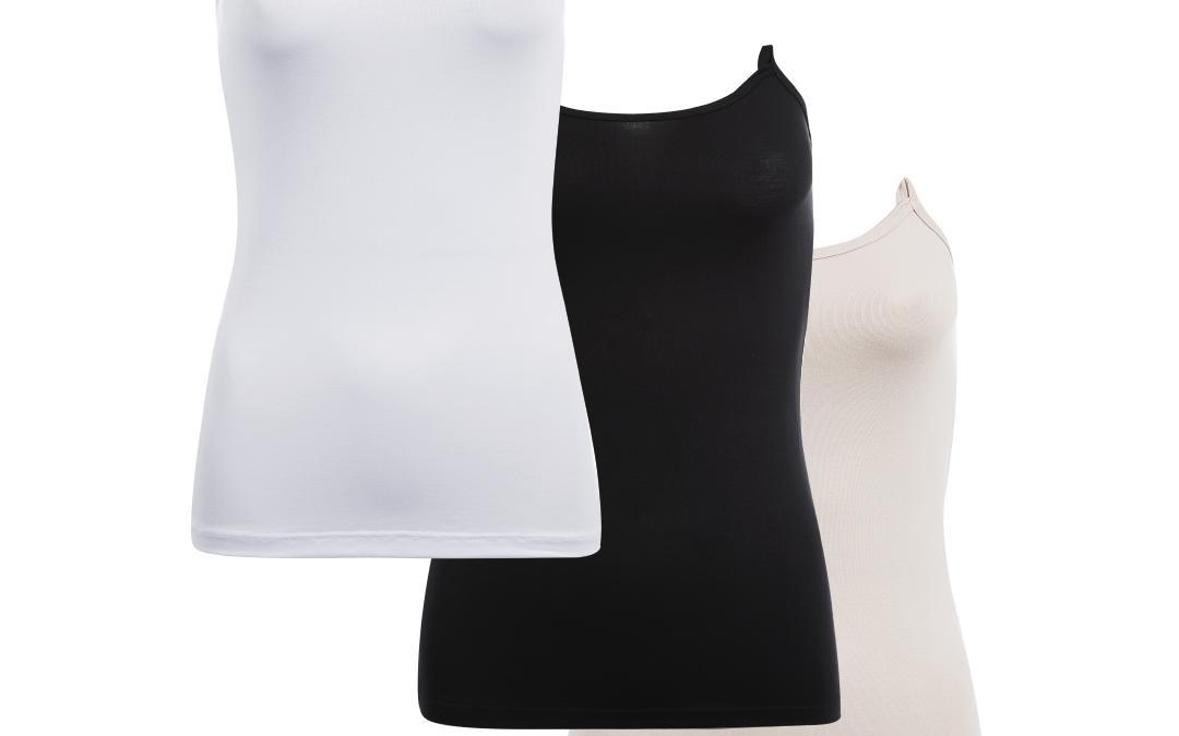 Kit – 3 Regatas Amamentação Freedom Sem Alça – Preta, Nude Rosê e Branca