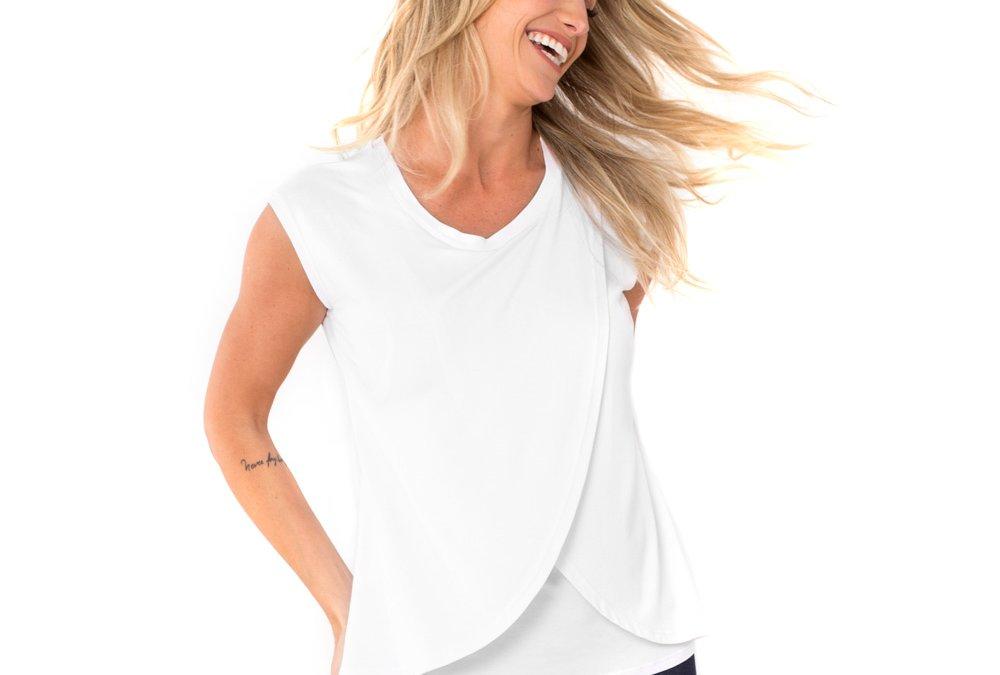 Camiseta Amamentação Cross – Branca